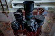 Canon 70D set met lenzen, battery grip en rugtas