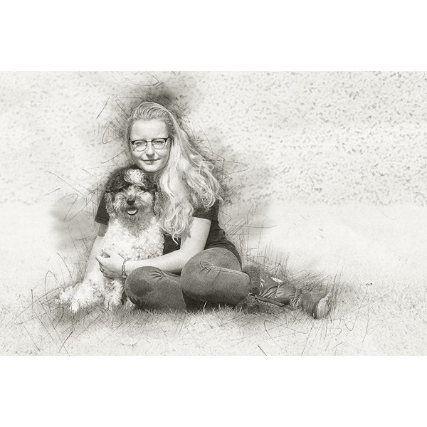 portret tekening